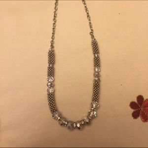Premier design crystal sky blue necklace.